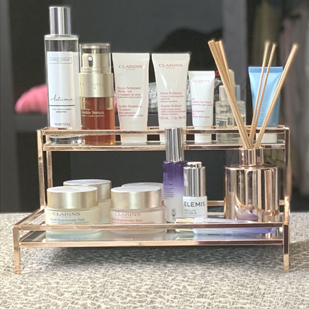 Beautify rose gold tray